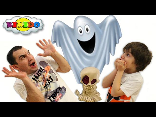 ЧЕЛЛЕНДЖ Охота на Привидений. Джонни Черепок.Обзор Интерактивной игрушки. Видео для детей. Кикидо