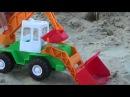 СТРОИТЕЛЬНАЯ ТЕХНИКА на песчаном карьере! мультик про машинки - ТРАКТОР-Экскаватор и САМОСВАЛ