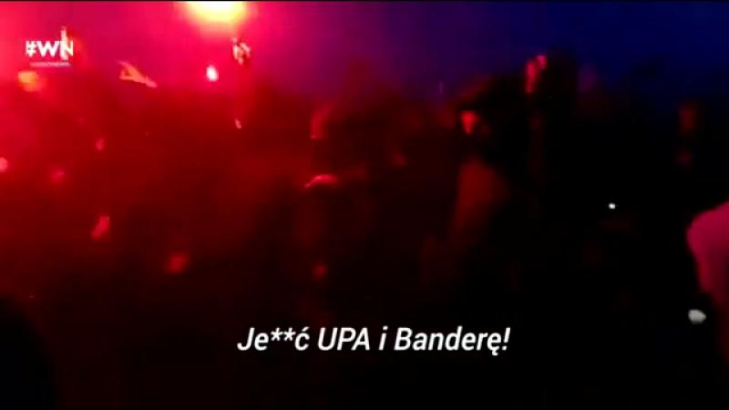 Польські підараси спалили прапор України