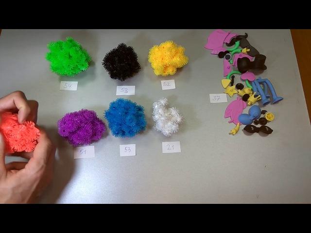 Конструктор липучка Bunchems - разноцветные шарики-репейники из мягкой пластмассы