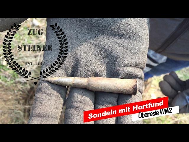 Sondeln mit Hortfund - Überreste WW2