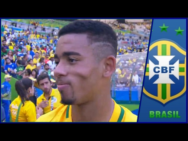 Gabriel Jesus Fala Após Brasil 6x0 Honduras - Entrevista  17/08/2016 
