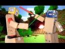 Бои как в майнкрафт Девочка робот побеждает папу робота манкрафт Развлекаемся в коробках  c Bad baby