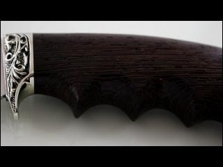 Охотничий нож Егерь сталь кованая 95х18,рукоять Венге. Производство Кузница Бра ...