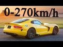 Dodge Viper SRT 2016 vs Ferrari 488 GTB - Acceleration 0-270km/h and Exhaust Sound