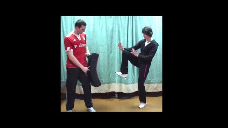 Вин Чун кунг фу урок 26 Прямой удар ногой