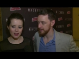 Macbeth Opening Night  Claire Foy and James McAvoy