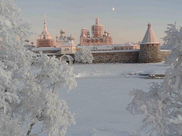 Зимняя сказка на Соловецких островах
