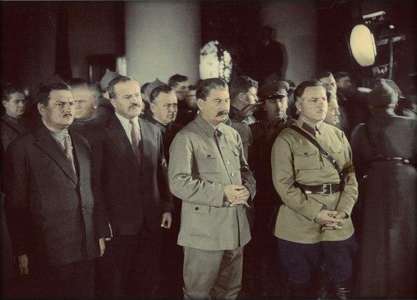 Андрей Жданов, Вячеслав Молотов, Иосиф Сталин