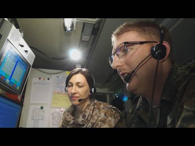 Luftraumüberwachung in Lettland – Mobiler Gefechtsstand der Bundeswehr