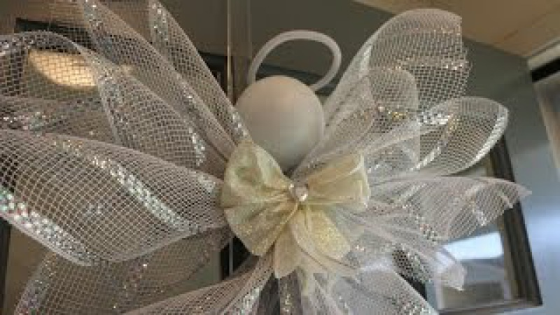 Deco Mesh Angel Tutorial - VERY easy and inexpensive