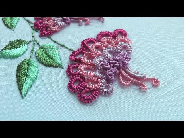 Brazilian Embroidery Cast-on stitch 🌸 Бразильская Вышивка