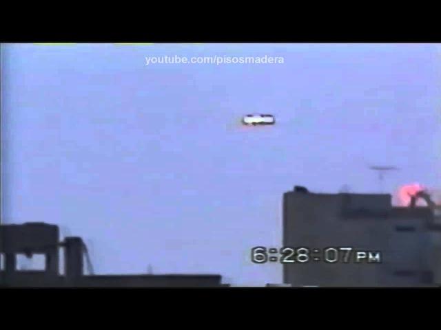 UFO beamship Landing Mexico City**Ovni Bajando en la ciudad 20/03/2013