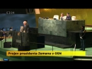 Prezident Zeman; Terorista je každý, kdo úmyslně zabíjí nevinné civilisty. Projev v OSN