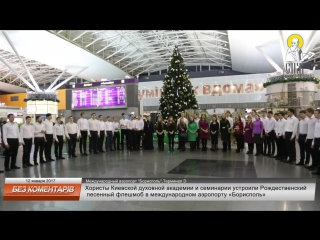 12 января 2017 г. хористы Киевской духовной академии и семинарии провели флешмоб в аэропорту «Борисполь»