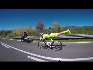 Поза полёта: как велосипедист применил законы физики в гонке