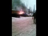 Воронеж! Сгорел авто возле кадетского корпуса!