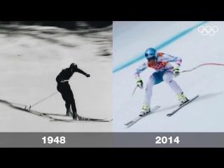 Лыжи с разницей в 66 лет