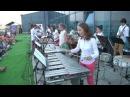 Концерт оркестра ударных инструментов Siberian Percussion на Крыше в Красноярске.