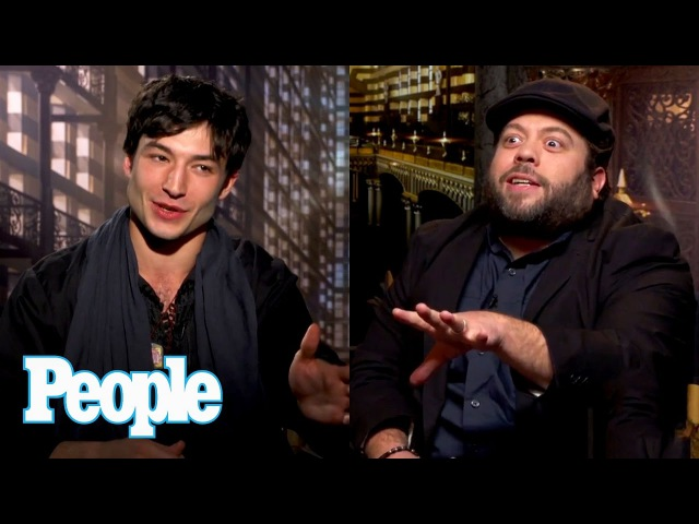 Fantastic Beasts: Ezra Miller Dan Fogler On Eddie Redmayne Spells On Set | People NOW | People