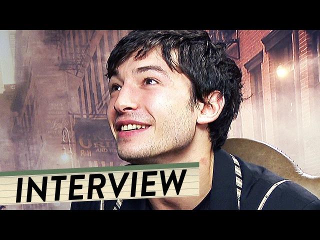 Ezra Miller, Dan Fogler Alison Sudol   Interview zu Phantastische Tierwesen Trailer Deutsch