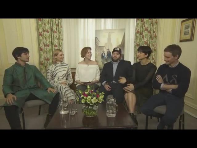 Fantastic Beasts stars Eddie Redmayne, Katherine Waterston, Dan Fogler, Alison Sudol and Ezra Miller