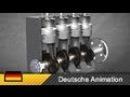 Dieselmotor 4 Zylinder Motor Viertakter Funktionsweise Animation