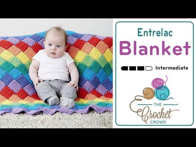Tunisian Entrelac Crochet - Rows - Blanket