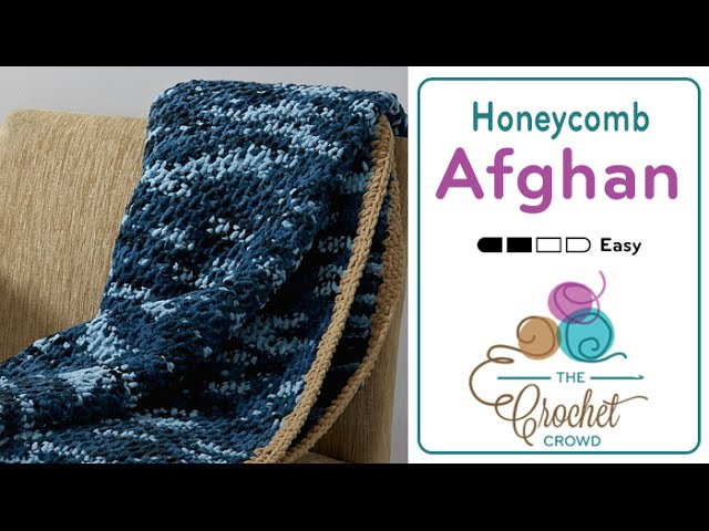 Tunisian - Honeycomb Stitch - Blanket