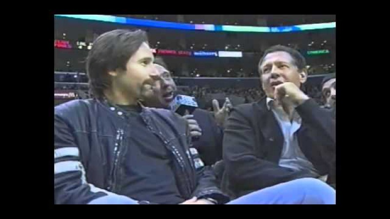 2004 - David Duchovny at Lakers Game