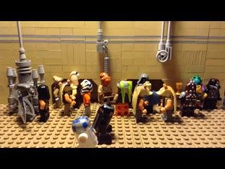 Лего звездные войны самоделки; Ханс Соло, Принцесса Лея и Чуи