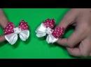 DIY Бантики Hello Kitty для малышек/Bow Hello Kitty for small girl