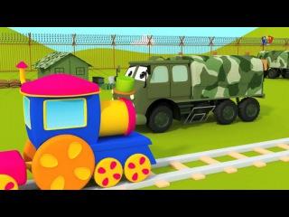 Паровозик Боб - посещение военного лагеря - Bob, The Train - Visit to the Army Camp in Russian - Видео Dailymotion