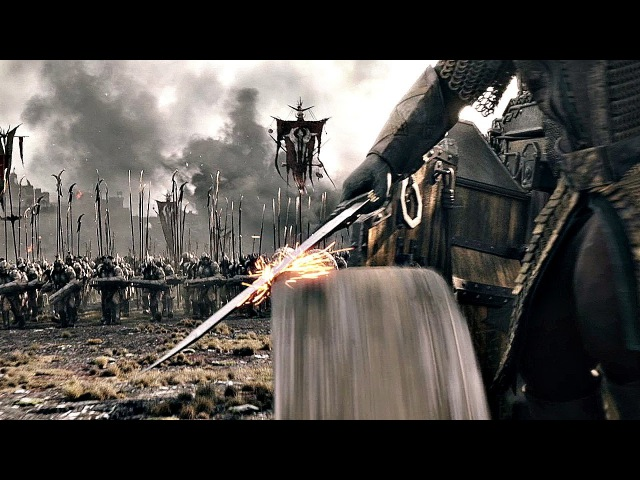 Гномы крушат армию Азога на колеснице \ повозке. Вырезанная сцена. Хоббит: Битва ...