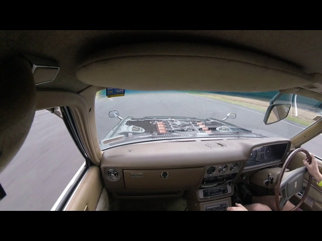 Toyota Corona V12 ITB in car at racetrack