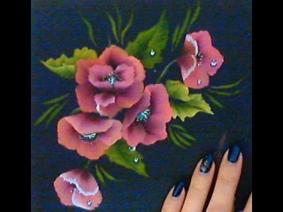 Come dipingere papaveri in modo facile. One stroke. how to paint poppy