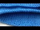 Набор петель на спицы крючком для округлого низа изделия как при машинной вязке (не итальянский)