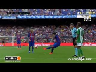 Барселона - Бетис 6:2. Обзор матча. Чемпионат Испании 2016/17. 1 тур.