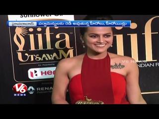 South indian celebs at at iifa utsavam 2017 green carpet - hyderabad - v6 news