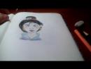 рисуем принцессу Мулан 2 часть