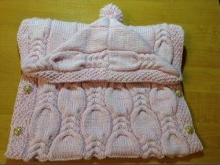 Как связать конверт детский (от 0 до 9 месяцев) How to tie a blanket for children (0 to 9 months)