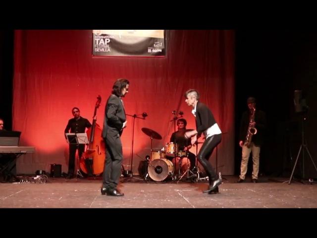 Juan de Juan Acia Gray Flamenco VS TapDance 2017 Flamenco dance フラメンコのダンサー
