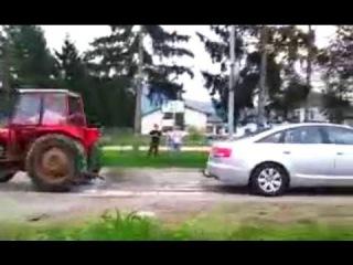 Ауди А6 против Трактора - Силовой Авто Тест-Драйв