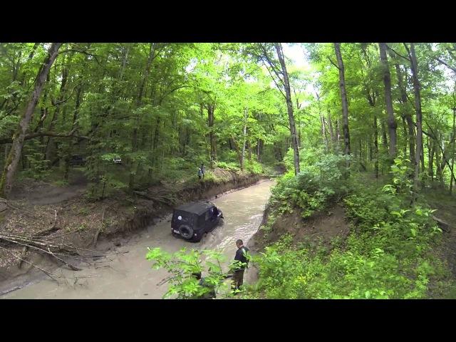 HD 1080. GoPro Hero 3. May 9 2014. Abinsk-Afonka. The Great Patriotic War memory jeep ride.