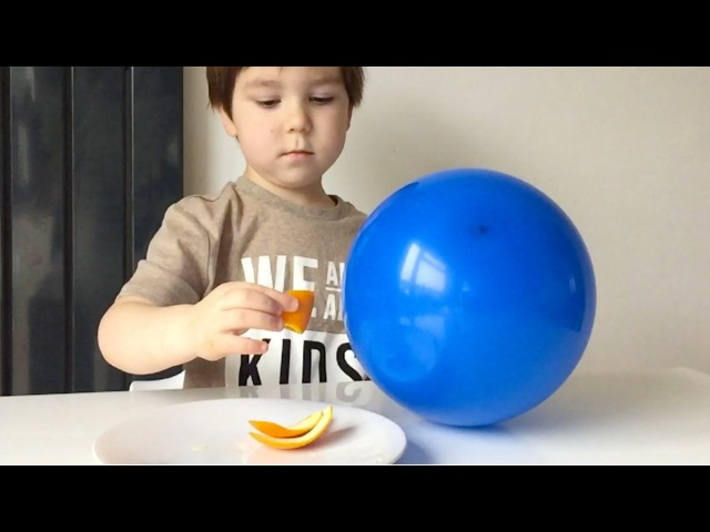 How To Pop Balloons With An Orange Peel