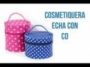 Cosmetiquera Hecha con CD