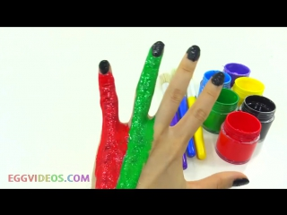 Learn Colors for Children Body Paint Finger Family Song Nursery Rhymes Learning Video EggVideos.com