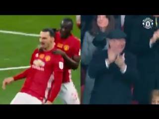 Alex Ferguson Celebration After Zlatans Free Kick Goal