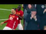 Alex Ferguson Celebration After Zlatans Free Kick Goal