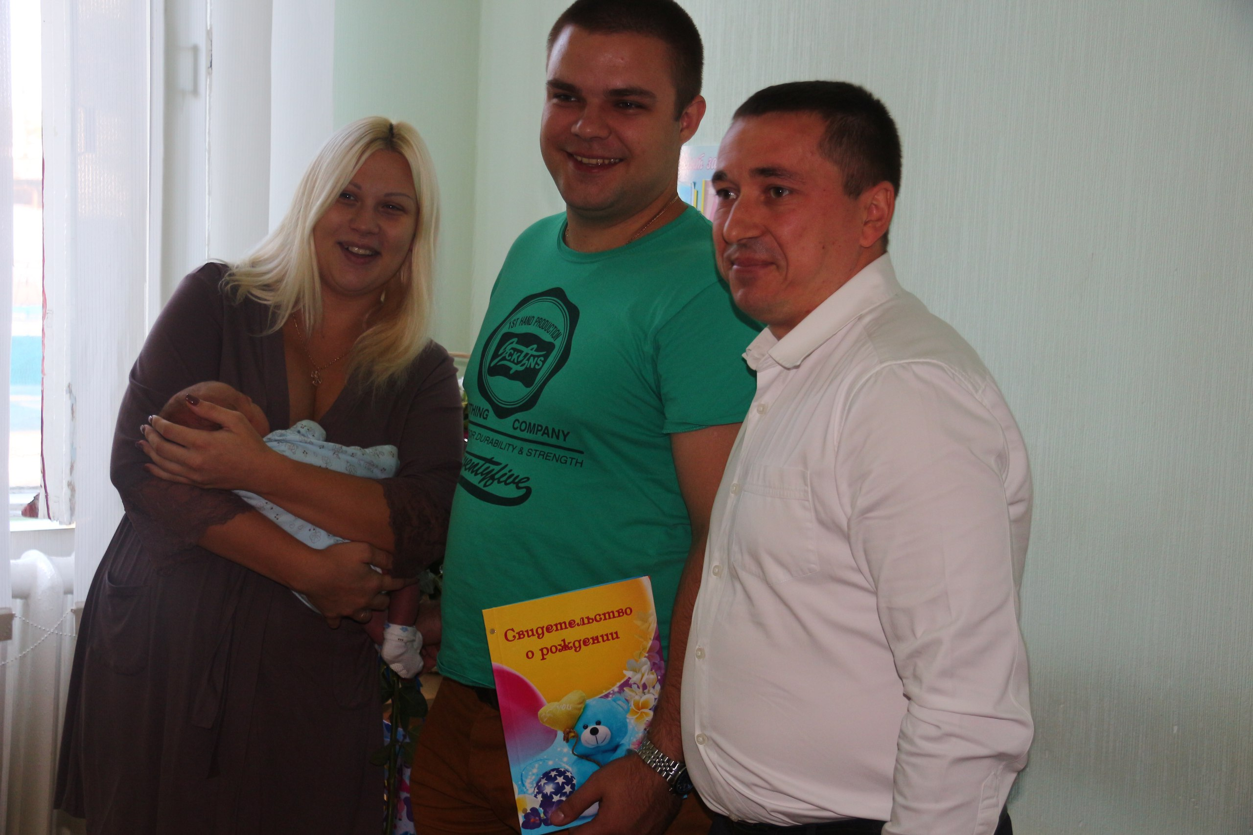 Костянтин Хутковський особисто видав ювілейне свідоцтво про народження